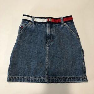 Tommy Hilfiger Vintage Girls Denim Skirt Size 6